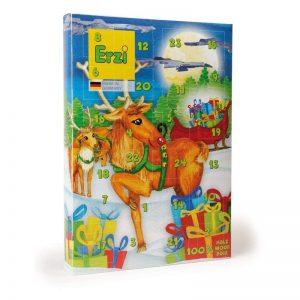 Erzi 28253 Adventskalender mit 24 Überraschungen aus Holz für Kaufladen