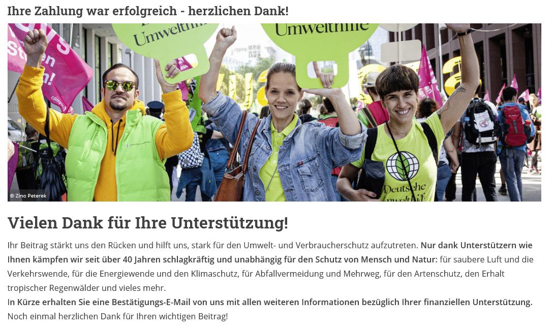 deutsche umwelthilfe spende